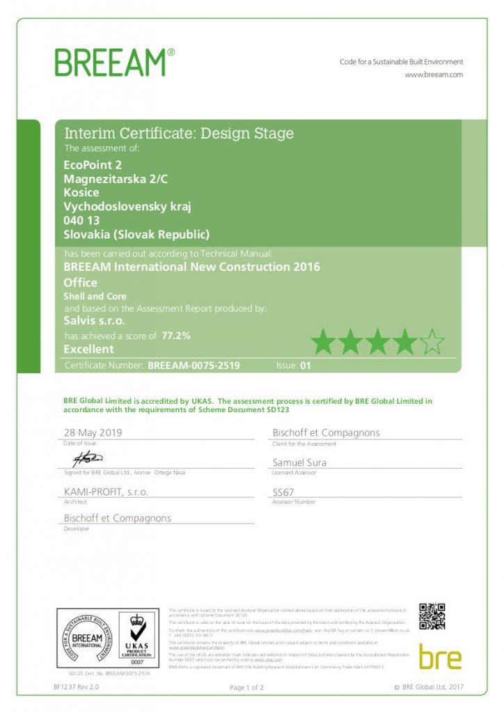 BREEAM-Certifikat